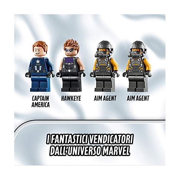 LEGO-Super-Heroes-LAttacco-del-Camion-Captain-America-e-Hawkeye-Set-di-Costruzioni-per-Bambini-e-Appassionati-di-Super-Eroi-Marvel-Avengers-con-Minifigure-e-Veicoli-7-Anni-76143