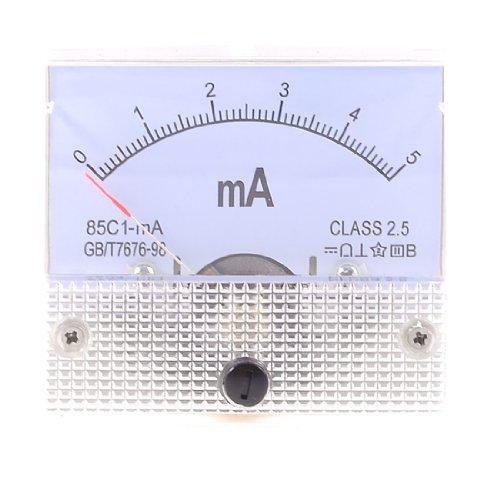 Aexit 85C1-mA DC 0-5mA Analoges Amperemeter mit Amperemeter (dd64da6e64c68463734c88e49c0aab74)