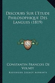 Discours Sur L'Etude Philosophique Des Langues (1819)