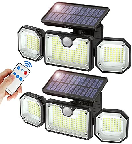 Solar Lights Outdoor with Motion Sensor, Covicreen...