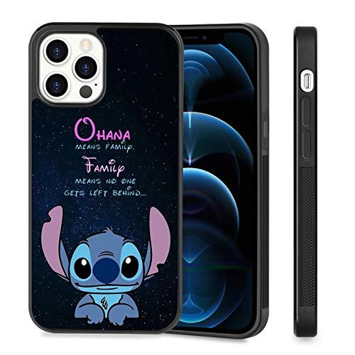 iPhone 12 Pro, iPhone 12 Stitch Simpatico pneumatico nero Design antiscivolo Paraurti Assorbimento degli urti Protettivo 5G iPhone 12 Pro/iPhone 12 Cover 6.1 pollici 2020