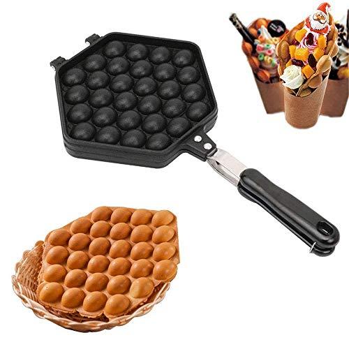 YFGQBCP Burbuja Wafflera, aleación de aluminio antiadherente, Hong Kong huevo Waffler, Burbuja plancha huevo hornada de la torta del molde placa utilizando for el hogar DIY cocinar huevos Herramientas