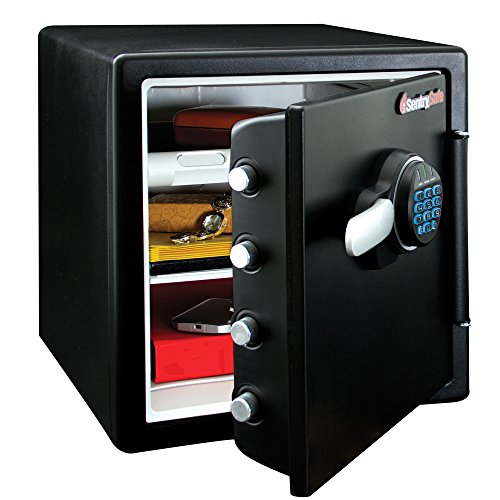 SentrySafe SFW123FUL Fireproof Waterproof Safe with Digital Keypad and interior light, 1.23 Cubic...