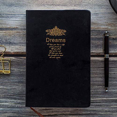 Leeg notitieboek dromen warme reliëf zacht notitieblok groot schilderij schrijven dagboek briefpapier journal gift Large zwart