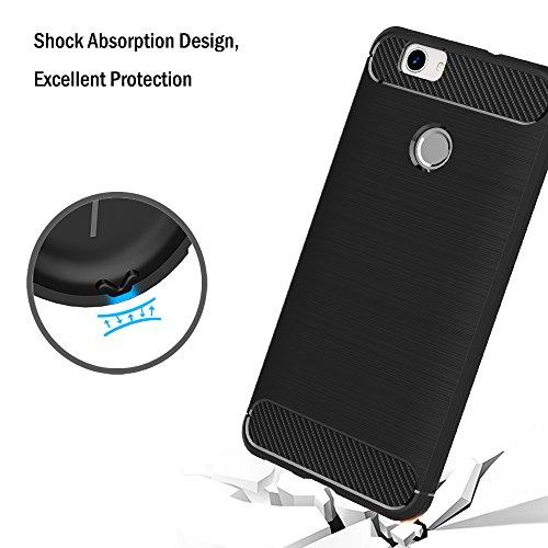 AICEK Huawei Nova Hülle, Schwarz Silikon Handyhülle für Huawei Nova Schutzhülle Karbon Optik Soft Case (5,0 Zoll) - 5