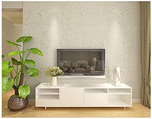 Modern minimalistisch - Arabisch niet-geweven behang voor slaapkamer woonkamer TV achtergrond 0.53m x 10m Rijst Grijs