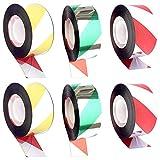 Ceqiny 6 rollos de cinta adhesiva holográfica repelente de pájaros, 0.94 pulgadas x 164 pies, cinta reflectante para ahuyentar pájaros como palomas, pájaros carpinteros, gansos, garzas y otros