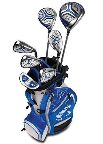 Callaway Golf Xj Junior Golf Set, Level 3, 7 Piece Set, Left Hand, Blue