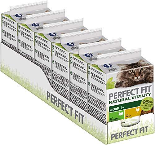 Perfect Fit Natural Vitality – Nassfutter in Sauce für erwachsene Katzen ab 1 Jahr – Unterstützt die Vitalität – 36 x 50 g