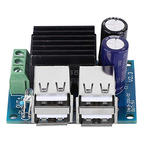 Abwärtswandler DC 12-40V auf 5V Spannungs-Abwärtswandler 4 USB-Port-Modul Netzteil für Spannungsregler mit hohem Wirkungsgrad
