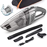 Car Vacuum, Beusoft Portable Vacuum Cleaner for Car, Handheld Vacuum Cleaner,120W 7000PA High Power Cordless Car Vacuum, Wet and Dry Use,Strong Suction, Best for Car Detailing,Black