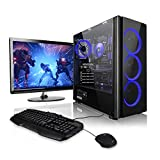 Megaport Super Méga Pack - Unité Centrale PC Gamer Complet • Ecran LED 24' • Clavier et Souris Gamer • AMD A8-9600 4X 3.1Ghz • 8Go • 1To • Win10 • Ordinateur de Bureau PC Gaming