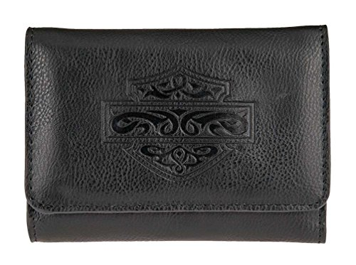 Harley-Davidson Women's Celtic Embossed B&S Leather Wallet HDWWA11174-BLK