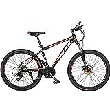 PBTRM 26 Pulgadas Mountain Bike MTB Bicicleta De Montaña 27 Velocidades, Cuadro Aleación Aluminio, Frenos Doble Disco, Horquilla Delantera Suspensión, Adecuada para Bicicletas Hombres Y Mujeres