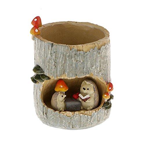 Bestomz Übertopf für Kaktus / Sukkulente, mit Container, Stiftehalter, Blumentopf, Tasse (Igel-Motiv)