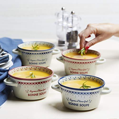 ROLDAN Assortiment de 4 Bols à Soupe