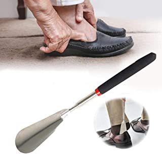 "Stainless Steel Non Slip Handle Rustproof Durable for Elders Spoon Practical Shoe Horn Pull Accessories Lifter Adjustable Length 10"" to 29"""
