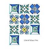 Queenaal Cz10P032 Siria Ladrillo Impermeable Gabinete de Cocina Cocina Pegatinas de Pared 10 Piezas