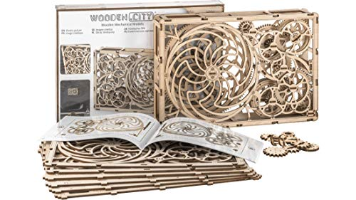 "3D-Holzfunktionsbausätze ""Kinetic Picture"" 340 x 224 x 62 mm by WOODEN.CITY | 3D-Puzzle Zusammenbau ohne Klebstoff"