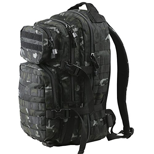 Kombat Unisex Outdoor Molle Assault Pack Backpack available in Black - 28 Litres