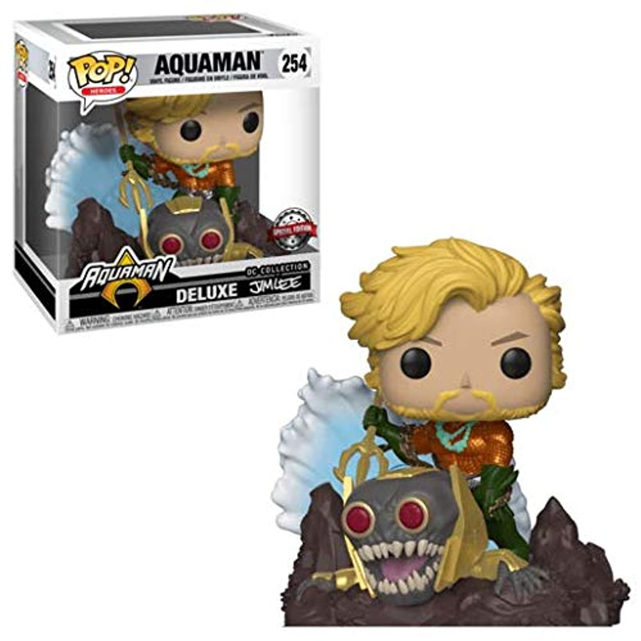Funko Aquaman (GameStop Exclusive Deluxe DC Collection by Jim Lee): Aquaman x POP! Heroes Vinyl Figure