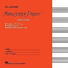 Wide Staff Manuscript Paper (Red Cover) Book PDF