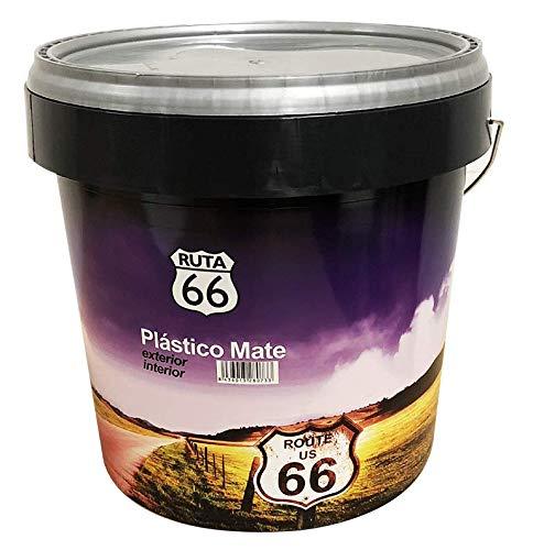 Pintura Plastica Mate Ruta 66 - Exterio, color Blanco (4 L.)