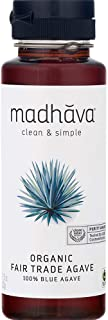Madhava Naturally Sweet Organic Blue Agave Low-Glycemic Sweetener, Fair Trade, 11.75 Ounce (Pack of 6) - PACKAGING MAY VARY