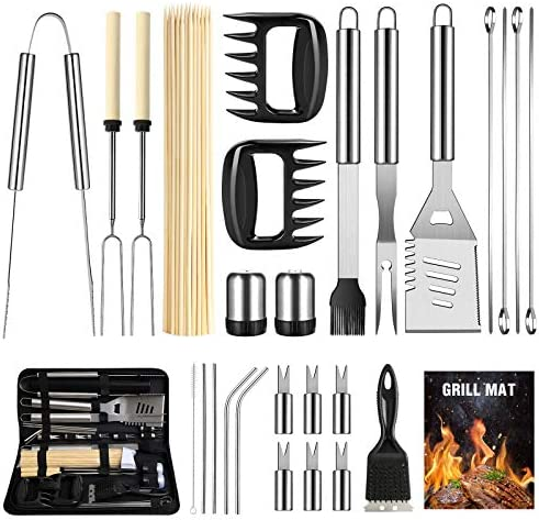 OlarHike BBQ Grill Accessories Set for Men Women 29PCS Grilling Utensils Tools Set Stainless product image