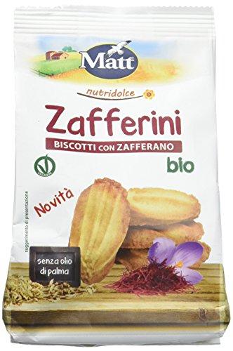 Zafferini bio, Biscotti con Zafferano, Vegan Ok - 4 Confezioni da 200 gr