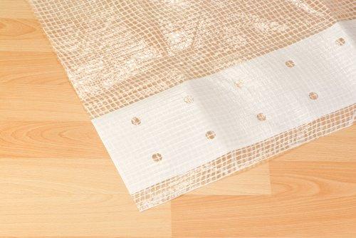 NOOR Gitter-Abdeckplane 200 g/m, 2 x 4m in weiß I Allzweckgewächshaus- und Gerüstplane für Glasschutz I UV-beständige Gitterplane