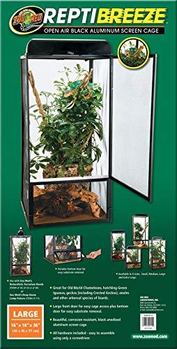 Zoo Med NT-12 ReptiBreeze Aluminium Terrarium 46 x 46 x 91 cm