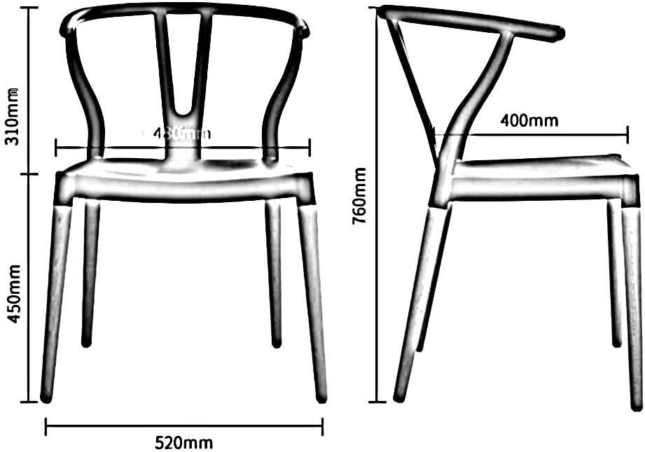 WYYY chaise de Bureau Bois Chaises De Salle À Manger Tabourets De Cuisine Unique Bureau Chaise De Bureau Durable Fort (Couleur : Vert) Blanc