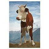 artboxONE Poster 75x50 cm Abstrakt Alpenmilch hochwertiger