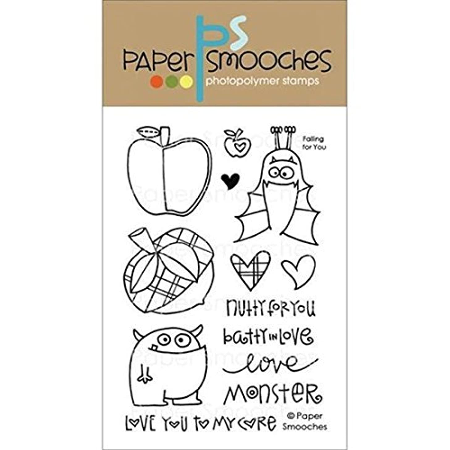 Paper Smooches Clear Stamps, 4 by 6-Inch, Falling for You