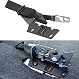 MOEBULB f150 Rear Seat Release Kit Compatible for Ford 2009-2018 F-150 SuperCrew & 2015-2018 F-150 SuperCab & 2017-2018 F-150 Raptor F-250 F-350 with Silver Pull Strap