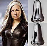 Party Queen X-Men Rogue Cosplay Wigs Long Straight Brown Silver Grey Color Hair Wigs For Beautiful Women Halloween Cosplay Party Show None-Lace Heat Resistant Fiber