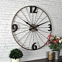 FirsTime & Co. Bicycle Wheel Wall Clock, 20, Iron