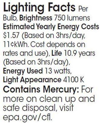 TCP CFL SpringLamp, 60W Equivalent, Soft White (2700K), Candelabra Base Spiral Light Bulb