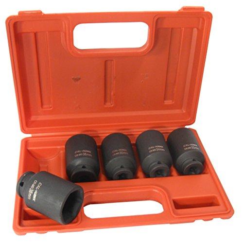 "Cal Hawk Tools BSSAN5P 5 Piece 1/2"" Drive Deep Impact Socket Set"