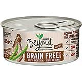 Purina Beyond Umido Gatto Grain Free Ricco in Pollo con Fagiolini, 12 Lattine da 85 g Ciascuna, Confezione da 12 x 85 g