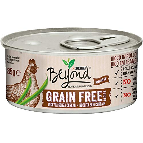 Beyond Purina Humidido Gato Grain Free Rico en Pollo con faisanes, 12 latas de 85 g Cada una (12 x 85 g)