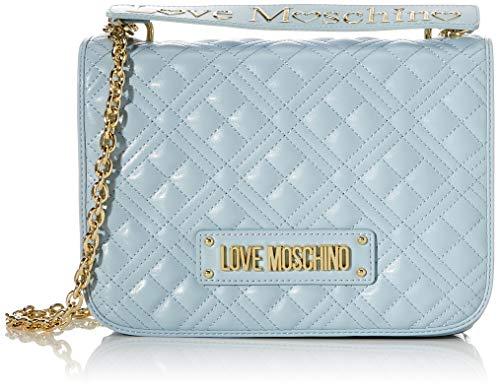 Love Moschino Jc4000pp1a, Borsa a Tracolla Donna, Blu (Nuvola), 9x20x27 cm (W x H x L)