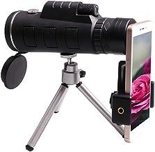 Scicalife Monokulära Teleskop- 40X60 Teleskop Zoom Lins Nattsyn- Telefonteleskop Med Legering Stativ För Resande Fåglar Ti...