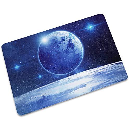 LJJJZS Blue Planet Alfombra antideslizante de goma negra para puerta delantera, dormitorio, cocina, alfombra LJMD-02