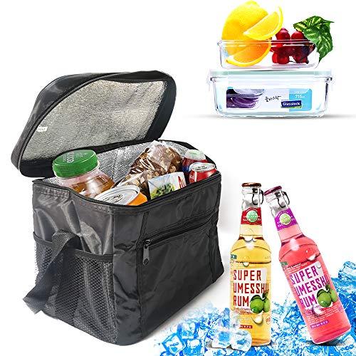 Amokee Kühltasche Picknicktasche, 10L Kühltasche Eistasche Isoliertasche Picknicktasche Klappbar Thermotasche Lunchtasche für Lebensmitteltransport, Büro, Grillfeste, Camping, Beach, Outdoor Reisen