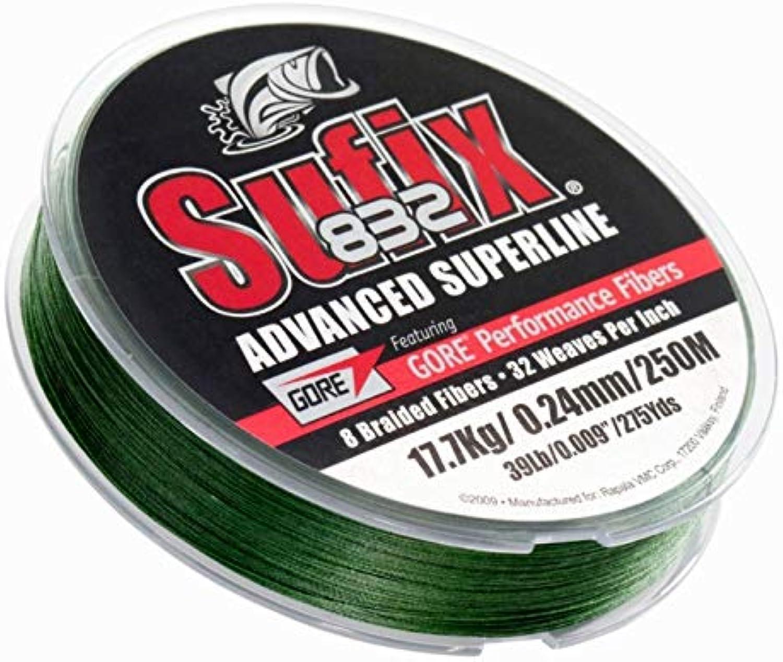 Sufix 832 Advanced Superline 250, grün, Größe 0.330 mm B00LUL6GM4  Praktisch und wirtschaftlich