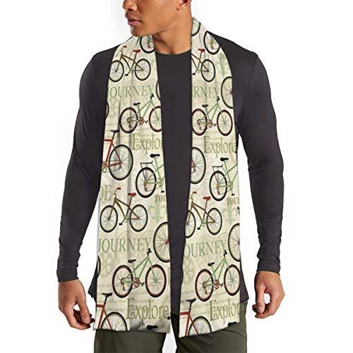 JONINOT Bufanda de viaje en bicicleta Retro Vintage para mujeres hombres ligero Unisex primavera otoño invierno bufandas chal envuelve