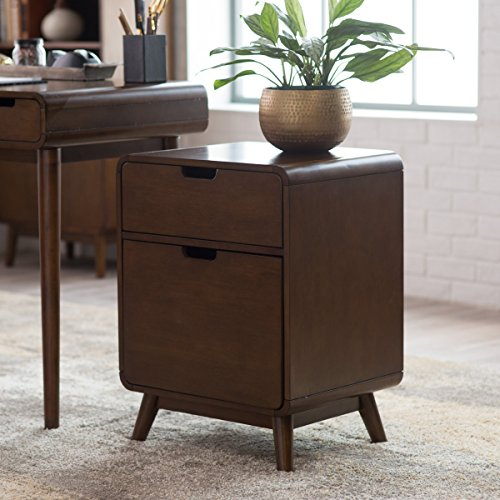 Belham living carter mid-century modern two-drawer file cabinet,...