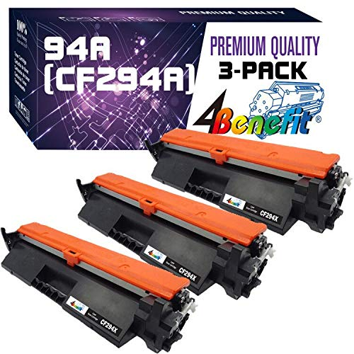 4Benefit Compatible Toner Cartridge Replacement for 94A CF294A to use for Laserjet Pro M118dw Laserjet Pro MFP M148dw Laserjet Pro MFP M148fdw Printer (Black, 3-Pack)